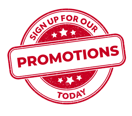 sign up for our promotions today